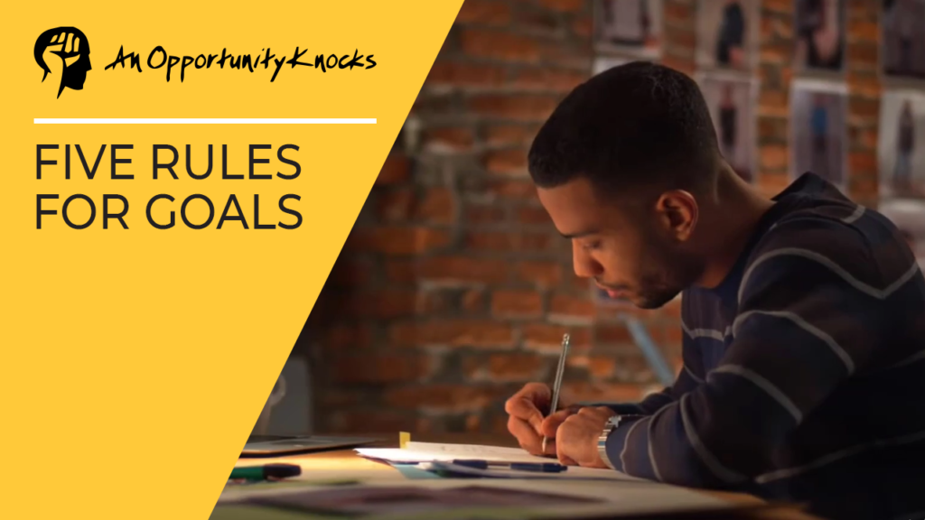 5 Rules For Goals